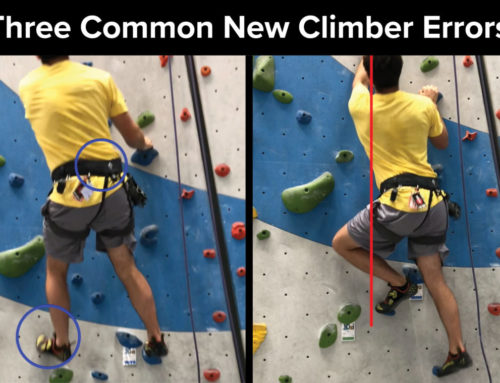 Three Common Errors Made by New Climbers